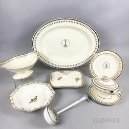 Seven Early Wedgwood Queen's Ware Serving Items