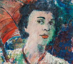 Karl Zerbe (American, 1903-1972)      Girl and Parasol