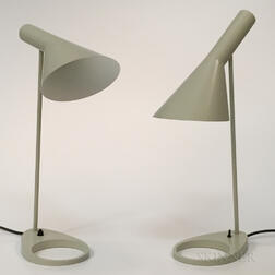 "Two Arne Jacobsen for Louis Poulsen ""AJ"" Table Lamps"