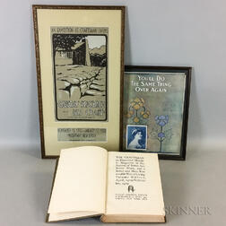 Gustav Stickley, The Craftsman, a Craftsman Farm Exhibition Poster, and an Arts and Crafts Illustrated Song Book Cover
