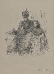 James Abbott McNeill Whistler (American, 1834-1903)      Mother and Daughter