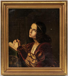 Continental School, 19th Century      Prayerful Young Woman in Renaissance Costume