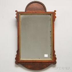 Queen Anne-style Walnut Veneer Mirror
