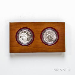 2007 American Eagle 10th Anniversary Platinum Two-coin Proof Set.