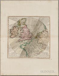 Eclipse, Northern Europe. A Map Exhibiting the Dark Shadow of the Moon over England and other Parts of Europe in the Five Great Solar E