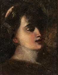 Italian School, 17th Century Style      Head of a Young Woman