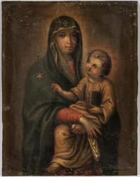 Italian School, 17th Century Style      Madonna and Child