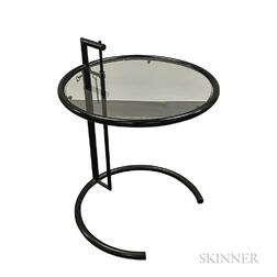 Eileen Gray-style Adjustable Height Side Table
