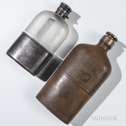 Two Whiskey Flasks