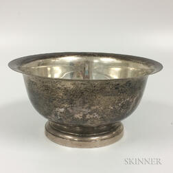 Poole Sterling Silver Revere Reproduction Footed Bowl