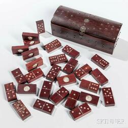 Boxed Hardwood Domino Set
