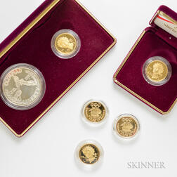Six 1988 Olympic Proof Coins