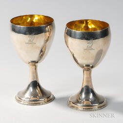 Two George II Sterling Silver Goblets