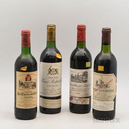 Mixed 1982 Bordeaux, 4 bottles
