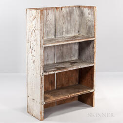 Light Gray-painted Pine Shelf