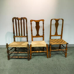 Three Country Side Chairs