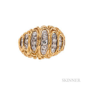 18kt Gold and Diamond Dome Ring, Kutchinsky