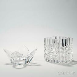 Two Orrefors Glass Vases