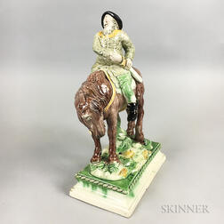 Ralph Wood-type Staffordshire Figure of Hudibras on Horseback