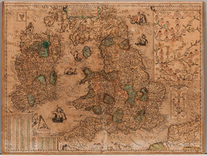Britain and Ireland, Jan Baptist Vrients (1552-1612) [and Abraham Ortelius (1528-1598)] Angliae et Hiberniae Accurata Descriptio, Veter