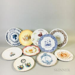 Ten English Queen Victoria Commemorative Plates