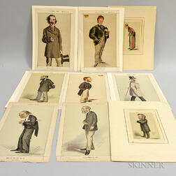 Seven Vanity Fair   Prints and Two Others.