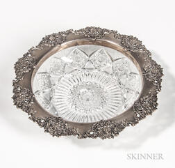 Tiffany & Co. Sterling Silver-mounted Cut Glass Bowl