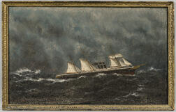 William P. Stubbs (Maine/Massachusetts, 1842-1919)      Steamship in Rough Seas