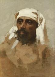 Attributed to Edwin Lord Weeks (American, 1849-1903)  Portrait Study of a Turk