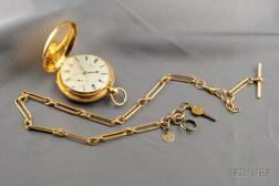 Antique 18kt Gold Hunting Case Pocket Watch, Widenham, London