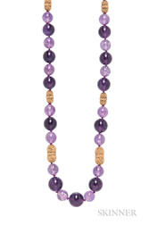 18kt Gold and Amethyst Bead Necklace, Van Cleef & Arpels