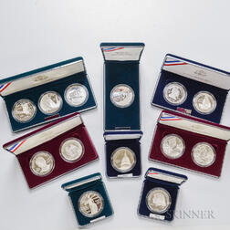 Twelve Boxed Sets of U.S. Commemorative Coins