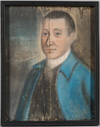 Benjamin Blyth (Massachusetts, 1746-1786), Portrait of a Man in a Blue Jacket, a Member of the Perkins Family, Newburyport, Massachuset