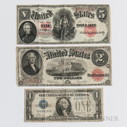 Three Pieces of American Currency