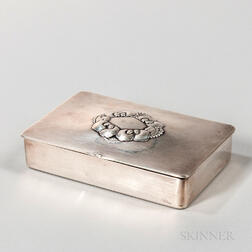 Georg Jensen Sterling Silver Cigarette Box