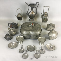 Group of Pewter Vessels