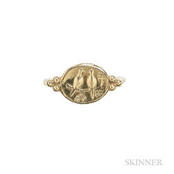 18kt Gold Ring, Helen Woodhull