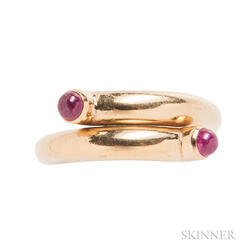 18kt Gold and Ruby Bypass Ring, Schlumberger, Tiffany & Co.