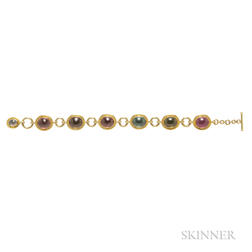 18kt Gold and Tourmaline Bracelet