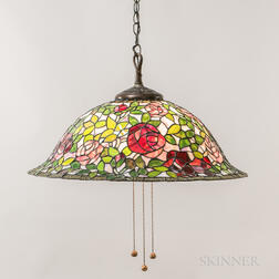 Tiffany-style Mosaic Glass Hanging Lamp