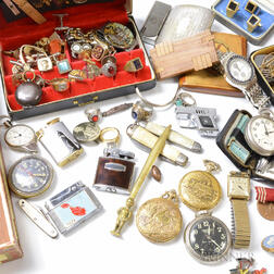 Large Group of Men's Jewelry and Accessories