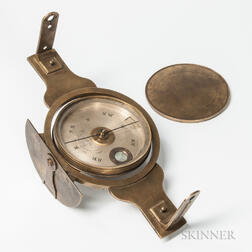 Unusual James R. Reed & Co. Gimbaled Surveyor's Compass