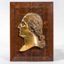 Bronze Profile Portrait of George Washington