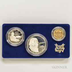 1993 Bill of Rights Commemorative Three-coin Proof Set.