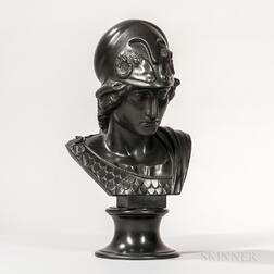 Wedgwood Black Basalt Bust of Minerva