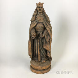 Carved Wood Figure of St. Elizabeth