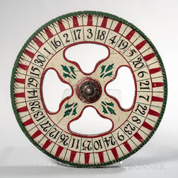 Paint-decorated Wheel of Chance