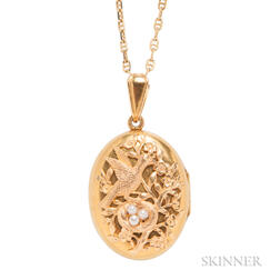 Antique High-karat Gold Locket