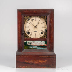 J.C. Brown Stencil-decorated Shelf Clock