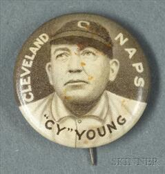 1910-1912 Sweet Caporal Cigarettes Cy Young/Cleveland Naps Pin
